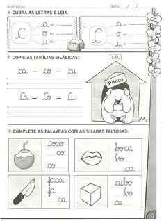 Atividades de alfabetização com as letras: B ,C ,D e F Maternelle Grande Section, Learning Spanish, Preschool, Language, Writing, Reading, Blushes, Preschool Literacy Activities, Infant Learning Activities