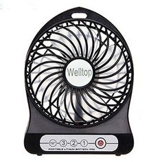 AFAITH Electric Portable Mini fan Rechargeable Desktop Fan Vanes 3 Speeds Battery/ USB Powered Household Summer Cooler Cooling Operated Cool Cooler Fan with 18650 Rechargeable Battery and USB Charge Cord Black Coolest Cooler, Portable Fan, Usb Gadgets, Time 7, Battery Operated, Computer Accessories, Household, Mini, Electric