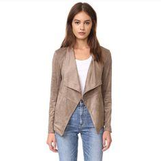 Bb Dakota Nicholson Suede Drape Front Jacket