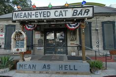 Mean-Eyed Cat Bar - Johnny Cash tribute bar Great Places, Places To Go, Cat Bar, Texas Bucket List, Loving Texas, Little Black Books, Roadside Attractions, Texas Travel, Austin Tx