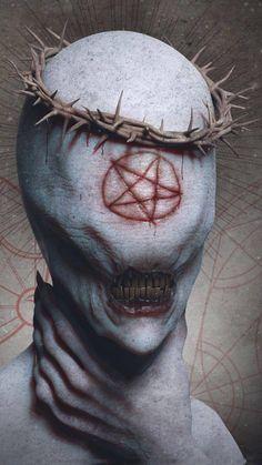 New Eye Creepy Horror Ideas Dark Aesthetic, Dark Souls, Demon Art, Satanic Art, Art, Creepy Horror, Dark Art, Gothic Art, Dark Fantasy Art