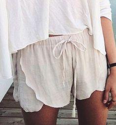 scallop shorts || @kyliieee