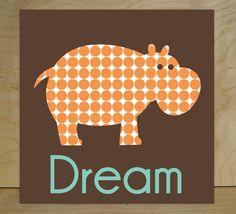 Elephant, Giraffe, Hippo, Playroom Rules, Nursery Wall Art, Canvas Wall Art, Kid's Room Decor