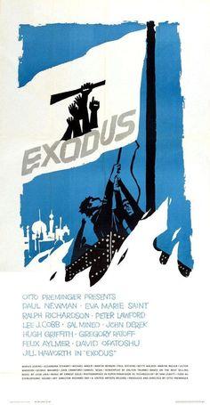 Exodus - Poster by Saul Bass (1960) [775 x 1500] : MoviePosterPorn