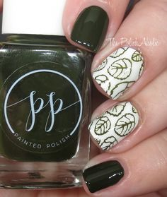 stamped in olive / mini / painted polish