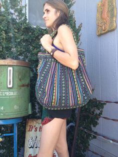 Fun & bright beach bag