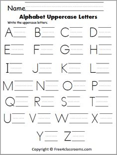 Free Uppercase Letter Writing Worksheet - Free4Classrooms