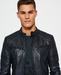 Leather Quilt Racer Jacket Slim Fit in Faux and Real Leather ::Built to size:: Men's Leather Jacket, Lambskin Leather, Leather Men, Jacket Men, Real Leather, Leather Jackets Online, Leather Fashion, Men's Fashion, Jackets For Women
