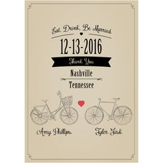 Bicycle - Wedding Wine Labels