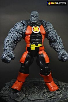 Rockslide custom action figure from the Marvel Legends series using HULK as the base, created by toymancustoms. Marvel Comics Art, Marvel X, Gi Joe, Hulk, Comic Room, Action Figure Display, Marvel Legends Series, How To Make Comics, Custom Action Figures