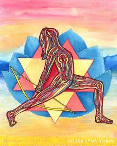 Durga | Yoga Art Print — Eliza Lynn Tobin