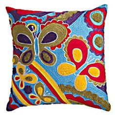 I love crazy throw pillows. They can change an entire room.