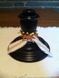 Hand Decorated Wooden Candle Holder by SistersShabbyCloset on Etsy, $12.00