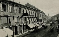Escolta Street looking east, Manila, Philippines, late Century Street Look, Street View, Intramuros, American War, Vintage Pictures, Old Houses, Old Photos, 19th Century, Island