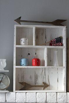 Pallet Shelves for Bathroom Cubby Shelf by CassolsPaintedMantel