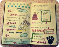Moleskine planner - I love this idea, drawing little things that you see <3