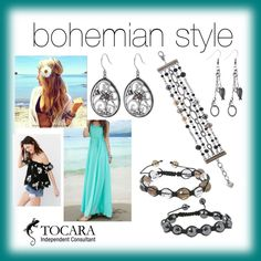 bohemian by blingitwithandrea on Polyvore featuring bohemian Bones