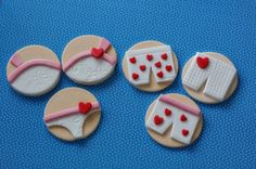 Boxer Short Fondant Toppers for Decorating by parkersflourpatch