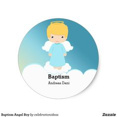 Sold #Baptism #Angel Boy #Sticker #christening Available in different products. Check more at www.zazzle.com/celebrationideas