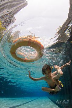 Underwater Fun in the Pool