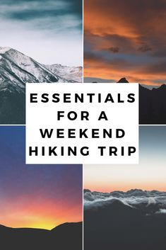 Enjoy being outdoors and in nature? These are essential Items that are a must have during a weekend hiking trip! via @Keep It Simple Silly