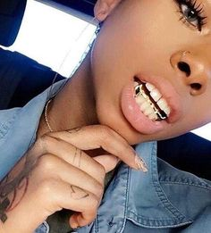 The most trendy and cool Grillz / Teeth Grills / Teeth Jewels out there. Looking for the best Grillz? We've got many pieces ON SALE! Mouth Grills, Grills Teeth, Girls With Grills, Punk, Girl Grillz, Grillz For Girls, Gangsta Grillz, Gold Slugs, Gold Grill