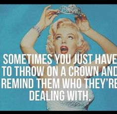 Allow me to adjust my crown
