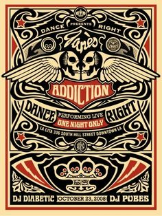 Janes Addiction | 10/23/08 | La Cita | Los Angeles, CA | Community Post: 29 Of The Most Awesome Concert Posters You Will Ever See