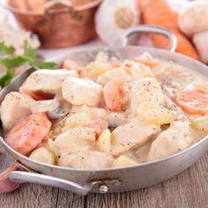 Blanquette de saumon, cabillaud et fruits de mer