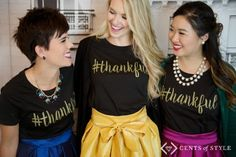 So much fun fashion inspiration with dressing up tshirt plus get this thankful shirt for free this weekend.