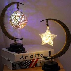 Cast A Warm Glow Over The Occasion A Dreamy Alternative To A Standard Table Lamp Our Half Moon Fairy Light Lamp Is Pe Moon Light Lamp Fairy Lights Lamp Light