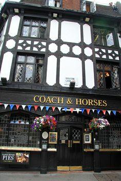 The Coach & Horses Pub, Soho, London