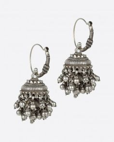 Jewellery n other Accessories White Things xenon white color temperature India Jewelry, Tribal Jewelry, Silver Hoop Earrings, Sterling Silver Jewelry, Silver Choker, Jewelry Accessories, Jewelry Design, Traditional Earrings, Indian Earrings
