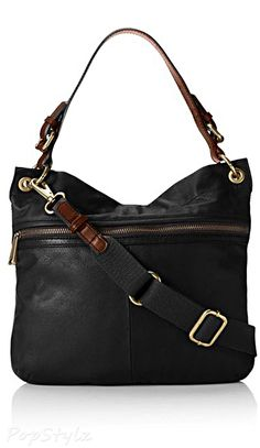 Fossil Explorer Hobo Leather Handbag