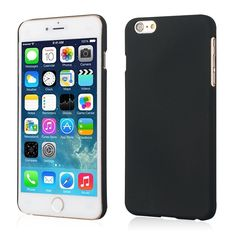 Yalike Pure color series Matte Rigid Plastic Grind Arenaceous Hard Back Skin Case Cover for Regular iPhone 6 4.7inch (Black) -- Read more  at the image link.