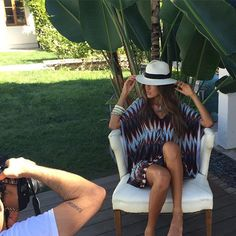 Veronica M spring 2016 line behind the scenes yesterday! Spring 2016, Veronica, Panama Hat, Behind The Scenes, What To Wear, Photo And Video, Clothing, Instagram, Dresses