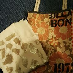 Billabong Bag Light weight, funky orange floral bag. Brand new, took off tags.  Great for summertime and going to the beach :) Billabong Bags Totes