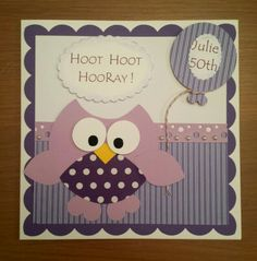 Owl birthday card.