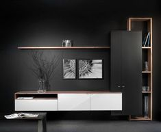 Interstar # wall cupboards, # dividers, # modern # cupboards # with # Hoogebee … - TV Unit Tv Unit Furniture, Home Furniture, Tv Wall Design, House Design, Tv Shelf Design, Simple Tv Unit Design, Muebles Rack Tv, Tv Wanddekor, Modern Tv Wall