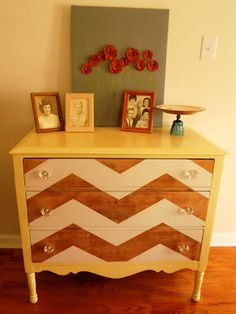Chevron dresser re-do Madame Eclectic: Better After