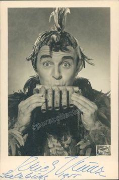 Kunz, Erich - Signed Photo as Papageno 1955 Vienna State Opera, Opera Singers, Salzburg, Classical Music, Singing, Film, Bass, Movie Posters, Theatre
