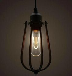 2017 NEW Industry Pendant Lights Retro Vintage Country Style Lamps Fixture Metal Wire Cage Bar Home Decoration Cage Pendant Light, Cage Light, Industrial Pendant Lights, Pendant Chandelier, Industrial Metal, Hanging Pendants, Pendant Lighting, Vintage Industrial, Loft Lighting