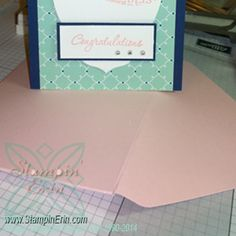 "Saturday Card Sketch Challenge - 1/11/14 - Love & Laughter Engagement Card - ""Congratulations"" - www.StampinErin.com #stampinup #cardmaking #saturdaycardsketchchallenge #diy #handmade #homemade #crafty #creative"