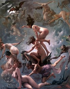 """The Departure of the witches"" by Luis Falero"