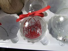 How to make a transparency float in an ornament