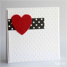 just cards - by N@ Ali Valentine Love Cards, Valentines Diy, Cute Cards, Diy Cards, Heart Cards, Homemade Cards, Homemade Valentine Cards, Scrapbook Cards, Holiday Cards