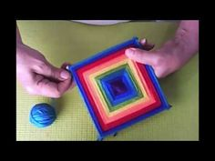 Mandalas para Principiantes 1 - Ojo de dios - Huichol - YouTube Yarn Crafts For Kids, Diy Home Crafts, Arts And Crafts, God's Eye Craft, Hello Kitty Crochet, Gods Eye, Magic Circle, Crafty Craft, Dream Catcher