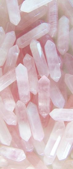Pink Rose quartz crystal pendants loose by BubbleGumGraffiti