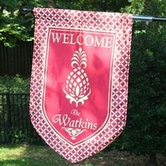 Personalized Welcome Flag