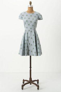 fun and flirty Sukiya Poplin Mini Dress. Anthropologie.